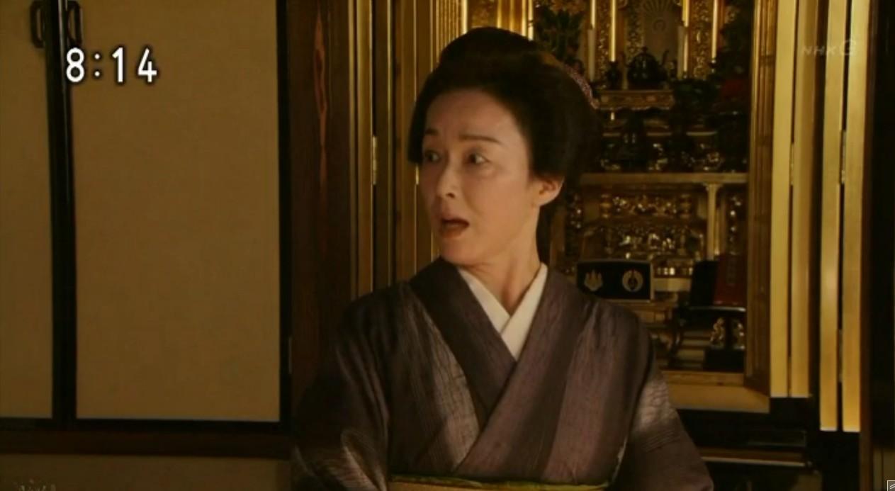 朝ドラに出演した着物姿のキムラ緑子の画像